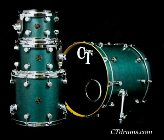 4pc Teal Satin Oil