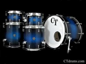 5pc Brilliant Blue Burst Satin Stain