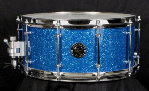 "6.5x14"" Blue Glass Glitter"