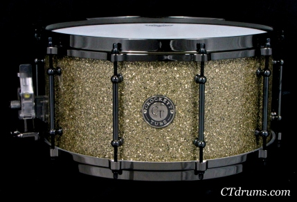 "7x14"" Ginger Glass Glitter w/ Black NIckel"