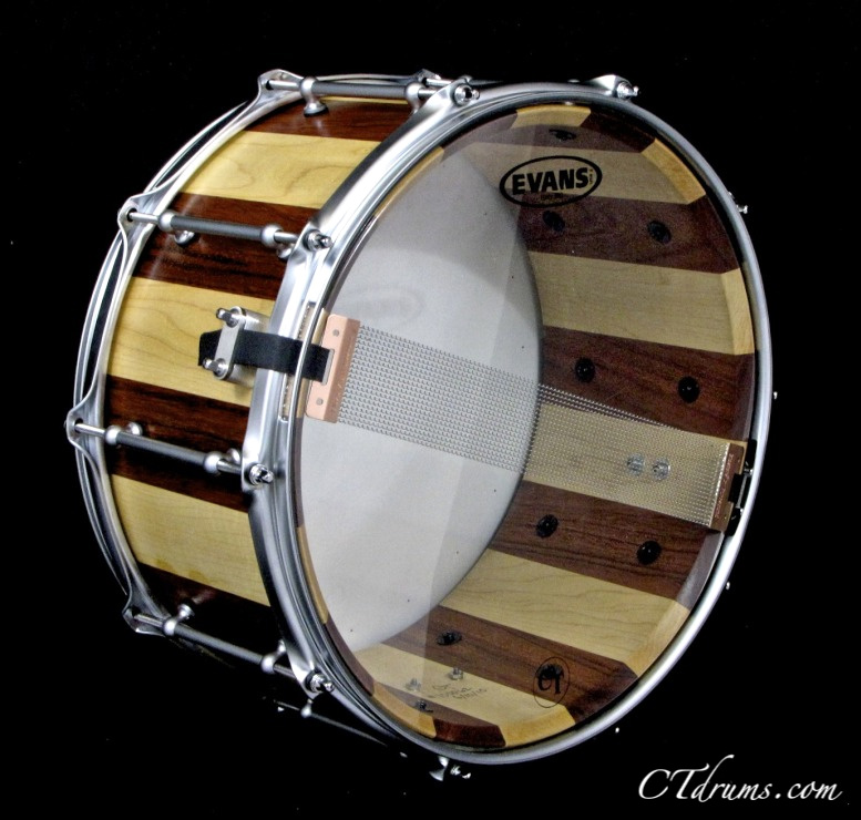 7 14 bubinga maple stave snare crockett tubs. Black Bedroom Furniture Sets. Home Design Ideas