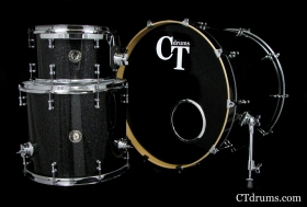3pc Black Glass