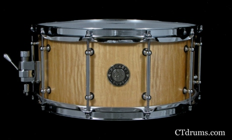"6.5x14"" Curly Maple Natural Satin Oil"