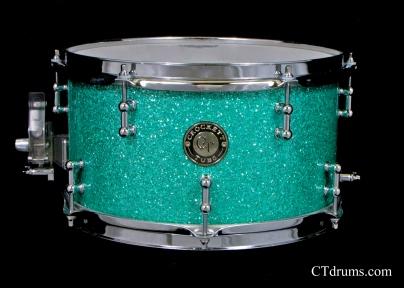 "7x12"" Turquoise Glass Glitter"