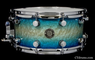 Caribbean Blue Kandy Fade Over Birdseye Maple