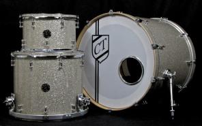 3pc Silver Glass Glitter