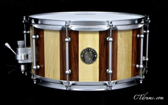 "7x14"" Bubinga / Maple w/ Satin Chrome"