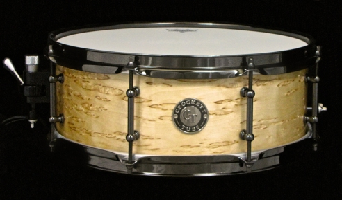 "5.5x14"" Karelian Birch Gloss w/ Black Nickel"