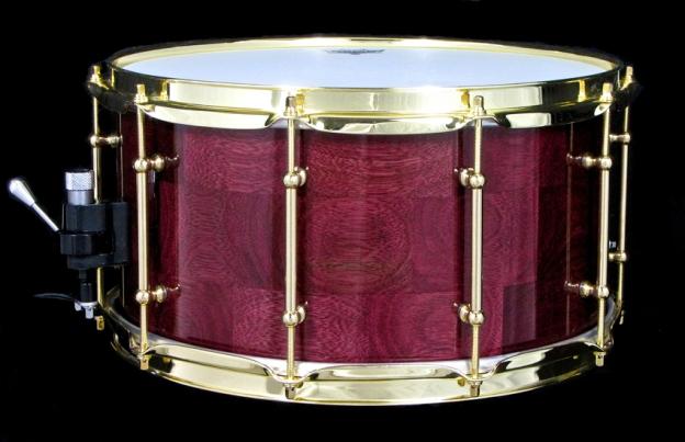 "7x14"" Segmented Purpleheart Snare w/ Brass"