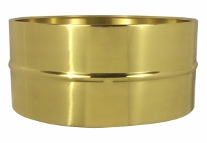 6.5x14 polished brass shell
