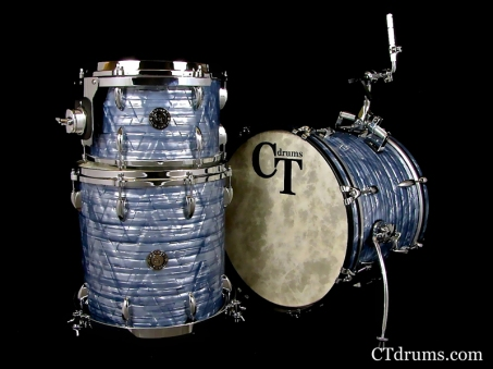 3pc vintage maple sky blue pearl