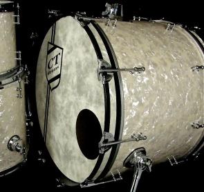 4pc aged wmp 3ply karl kit kick drum