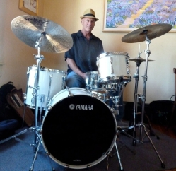 Mik Mestek custom painted bass drum