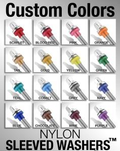 Custom Color Chart Nylon Washers