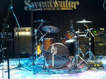 Drew Cueva's kit at Mill Valley, CA gig