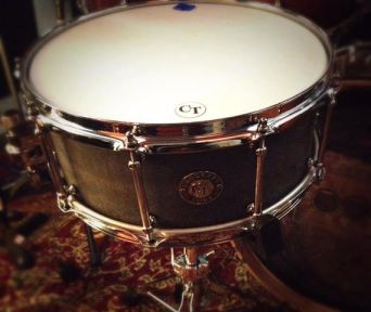 "In the Blue Room Studio... A little secret hush hush snare drum.  6x14"" Solid Slate"