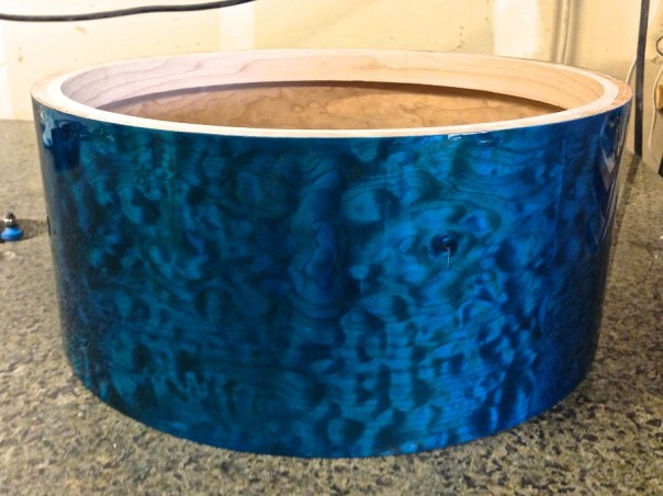 Ocean Blue Kandy Quilted Maple Solid Shell