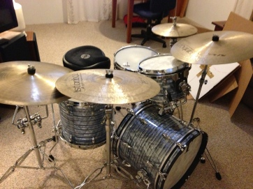 Ben Johnson's Kit w/ some tasty cymbals!