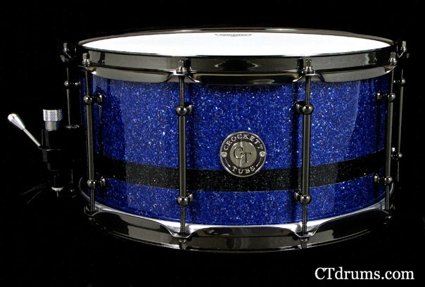 7x14 cobalt glass black stripe snare